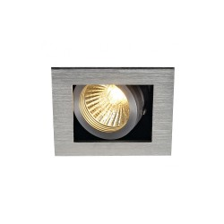 SLV 115516 Aluminium Brushed Kadux 1 GU10 Recessed Ceiling Light