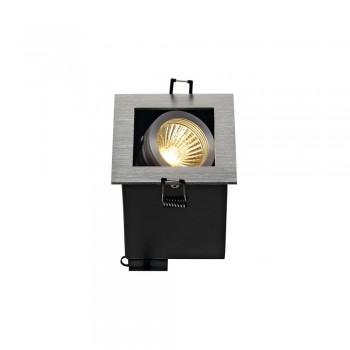 SLV 115516 Aluminium Brushed Kadux 1 GU10 Recessed Ceiling Light