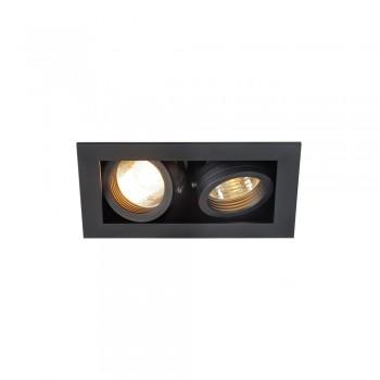 SLV 115520 Matt Black Kadux 2 GU10 Recessed Ceiling Light