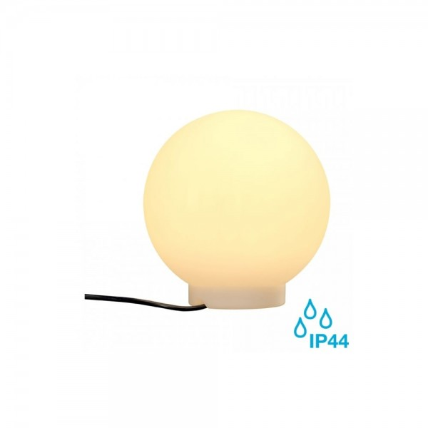 SLV 227219 White Rotoball 25 E27 IP44 Floor Light