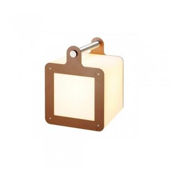SLV 227547 White/Rust E27 Omnicube Portable Light