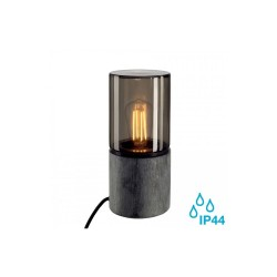SLV 231360 Stone-Grey/Smoked Glass E27 Lisenne Outdoor Table Light