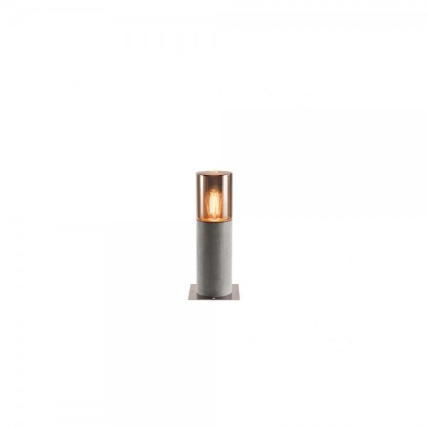SLV 1000665 Grey/Smoked Glass E27 Lisenne Pole 40 Outdoor Floor Light