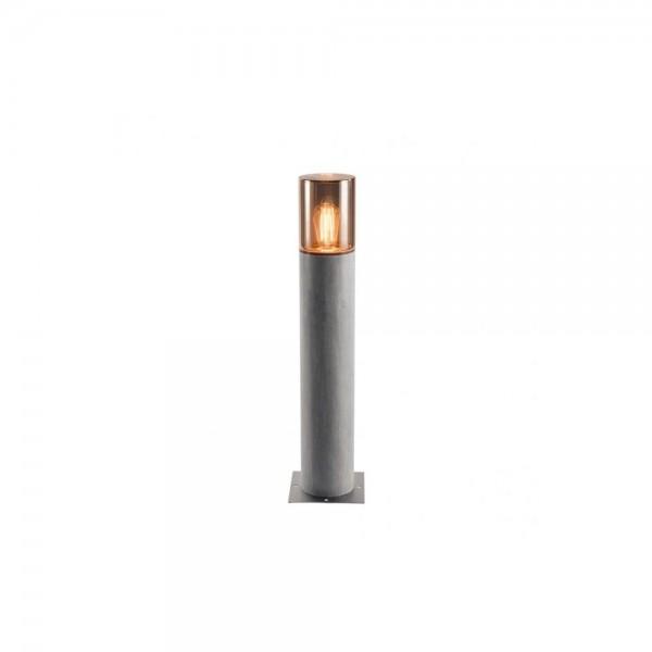 SLV 1000666 Grey/Smoked Glass E27 Lisenne Pole 70 Outdoor Floor Light