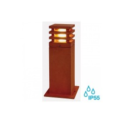 SLV 233427 Rusted Iron Rusty Square 40 8.6W LED Outdoor Bollard Light