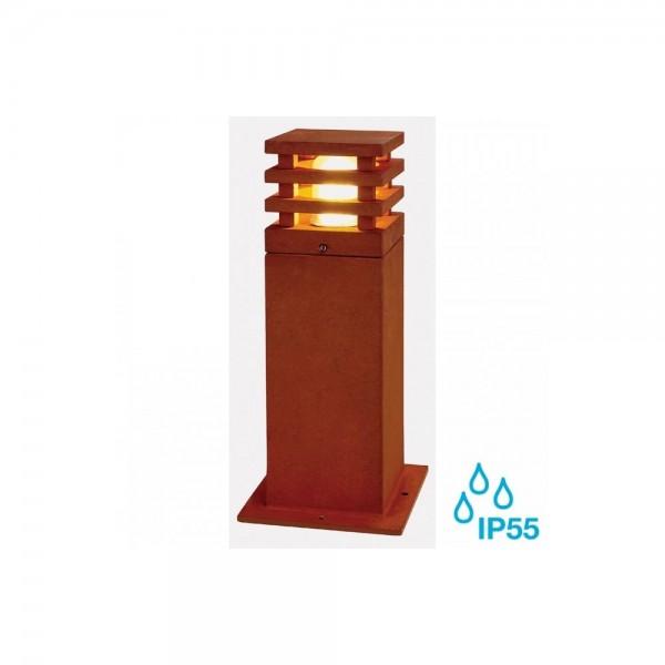 SLV 233427 Rusted Iron Rusty Square 40 8.6W LED Outdoor Bollard Light