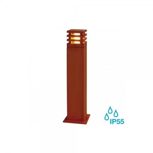 SLV 233437 Rusted Iron Rusty Square 70 8.6W LED Outdoor Bollard Light