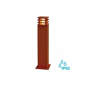 SLV 233437 Rusted Iron Rusty Square 70 8.6W LED Outdoor Bollard Light
