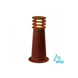 SLV 233407 Rusted Iron Rusty Round 40 8.6W LED Outdoor Bollard Light