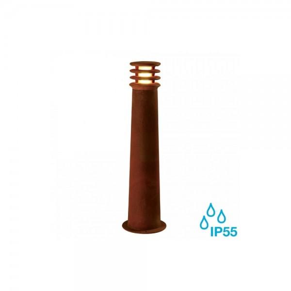 SLV 233417 Rusted Iron Rusty Round 70 8.6W LED Outdoor Bollard Light