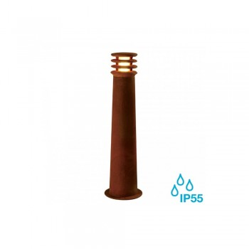 SLV 233417 Rusted Iron Rusty Round 70 8.6W LED Outdoor Bollard Light