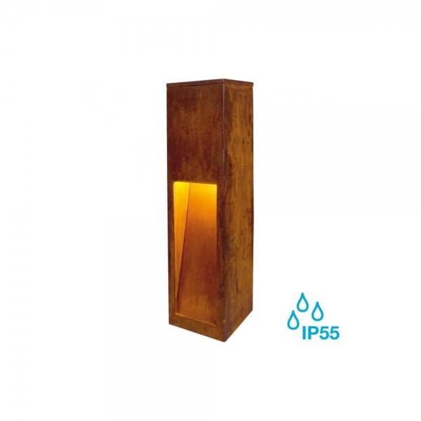 SLV 233447 Rusted Iron Rusty Slot 50 8.6W LED Outdoor Bollard Light