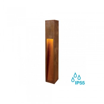 SLV 233457 Rusted Iron Rusty Slot 80 8.6W LED Outdoor Bollard Light