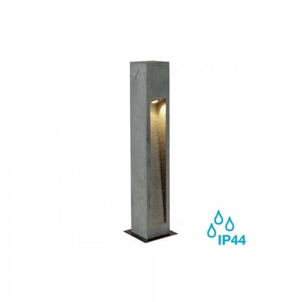 SLV 231371 Stone-Grey Arrock Stone 75 LED Outdoor Bollard Light