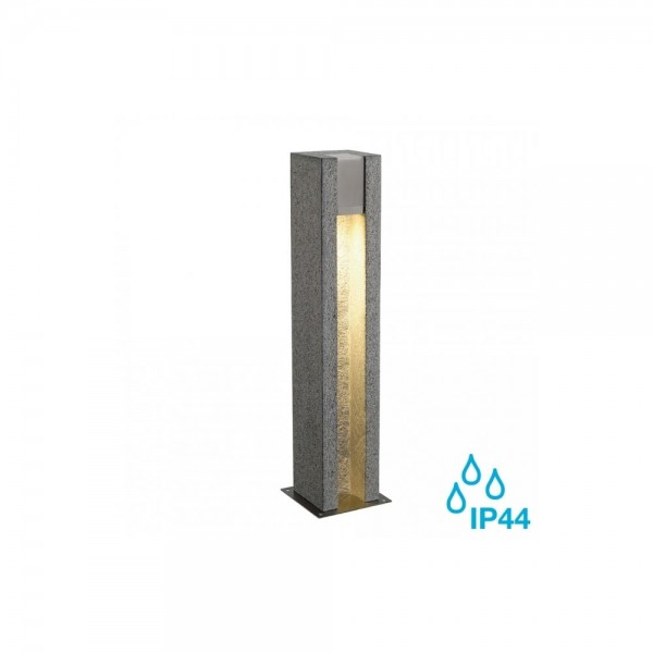 SLV 231440 Salt & Pepper Arrock Arc GU10 Granite Outdoor Bollard Light