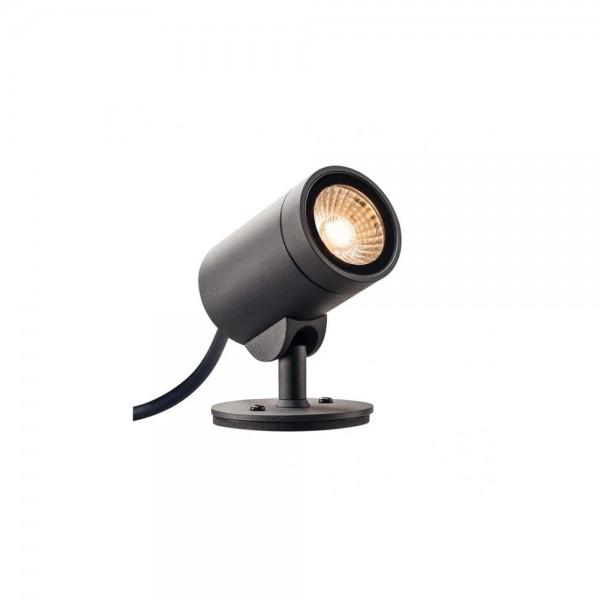 SLV 1000735 Anthracite Helia 8W LED Outdoor Spotlight