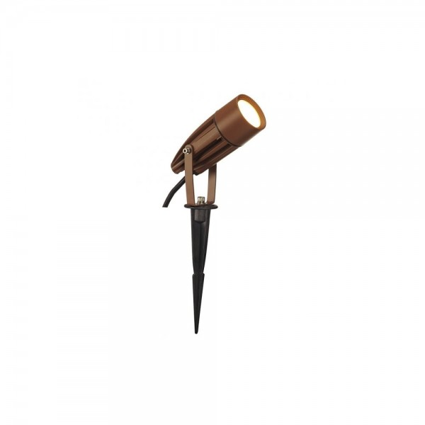 SLV 227507 Rust Syna Spike 8.6W 3000K LED Outdoor Ground Spotlight