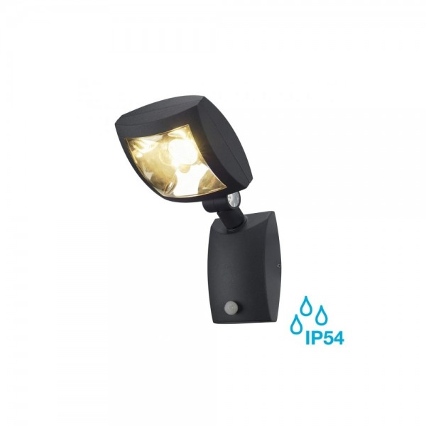 SLV 232405 Anthracite Mervaled 14W LED Outdoor Spotlight with Sensor