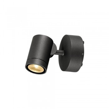 SLV 233245 Anthracite 8W Helia LED Outdoor Wall Spotlight