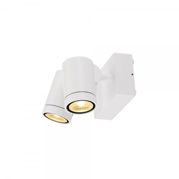 SLV 233251 White 16W Helia Double LED Outdoor Wall Spotlight