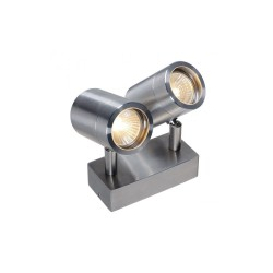 Intalite 233301 Stainless Steel 304 GU10 Double Outdoor Wall Spotlight