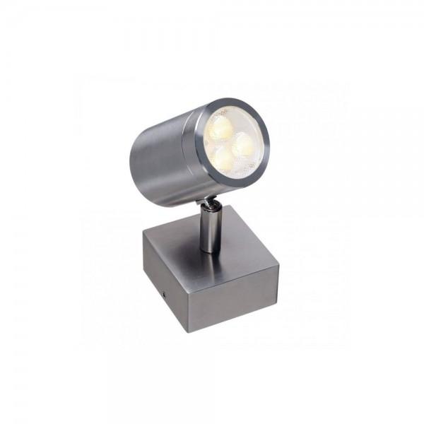 SLV 233310 Stainless Steel 316 3W LED Single Outdoor Wall Spotlight