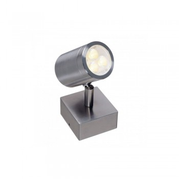 SLV 233310 Stainless Steel 316 3W LED Single Outdoor Wall Spotlight