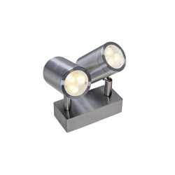 Intalite 233311 Stainless Steel 316 6W LED Double Outdoor Wall Spotlight