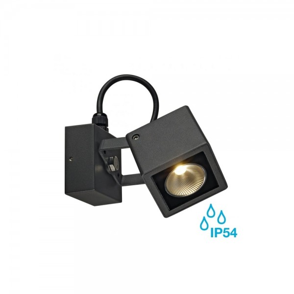 SLV 231045 Anthracite Nautilus Square 9W LED Outdoor Spotlight