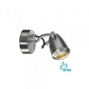 SLV 231662 Stainless Steel Brushed GU10 CV-Spot Outdoor Spotlight