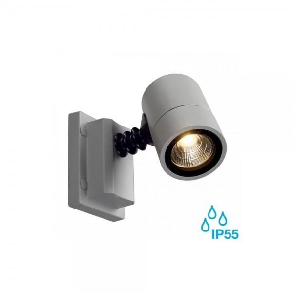 SLV 233204 Silver-Grey Myraled 6.8W LED Outdoor Wall Spotlight