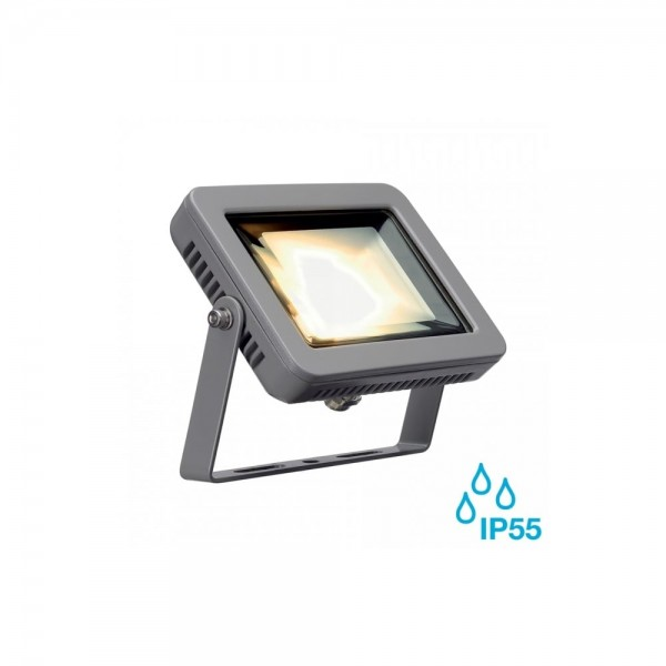 SLV 232804 Silver-Grey Spoodi 10W 3000K LED Outdoor Spotlight