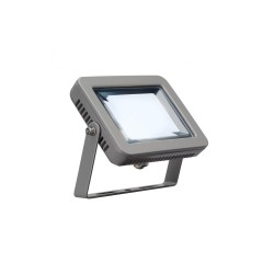 Intalite 232814 Silver-Grey Spoodi 10W 4000K LED Outdoor Spotlight