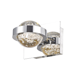 Dar Lighting LIV0750 Livia Wall Light Polished Chrome LED