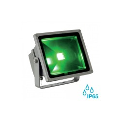Intalite 231119 Silver-Grey Floodi (RF) Outdoor Spotlight with RGB Colour Control