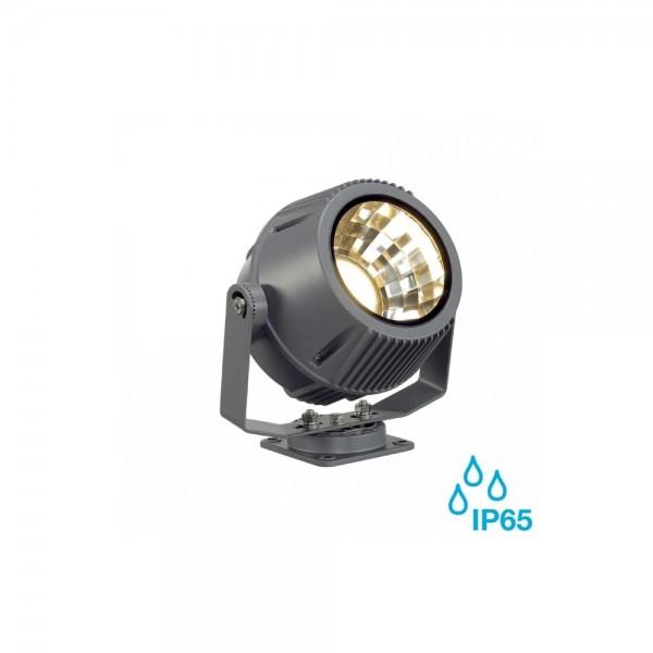 SLV 231092 Stone-Grey Flac Beam 17W 3000K LED Outdoor Spotlight