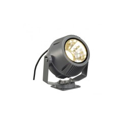 SLV 231072 Stone-Grey Flac Beam 27W 3000K LED Outdoor Spotlight