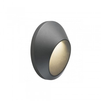 SLV 227185 Anthracite Delo 5.8W 3000K LED Outdoor Wall Light