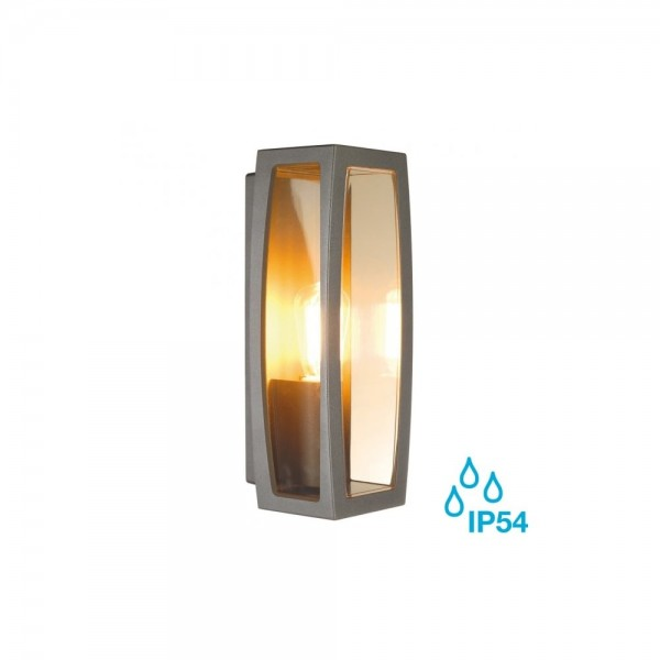 SLV 230655 Anthracite Meridian Box E27 Outdoor Wall Light
