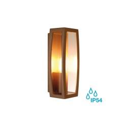 SLV 230657 Rust Meridian Box E27 Outdoor Wall Light