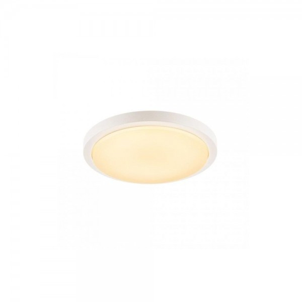 SLV 229971 White Ainos 21W 3000K LED Outdoor Ceiling/Wall Light with sensor