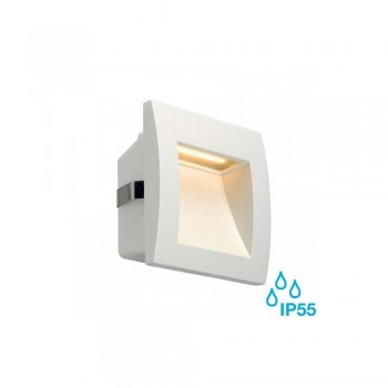 SLV 233601 White Down Under 1.7W LED Outdoor Recessed Wall Light
