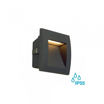 SLV 233605 Anthracite Down Under 1.7W LED Outdoor Recessed Wall Light