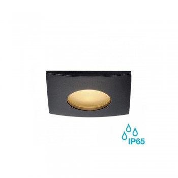 SLV 114470 Black Out 65 12W 3000K LED Square Outdoor Recessed Ceiling Light