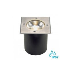 SLV 227604 Stainless Steel Square Rocci 9.8W 3000K LED Outdoor Ground Light