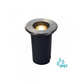 SLV 227680 Stainless Steel Round Solasto GU10 Outdoor Recessed Ground Light