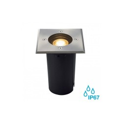 Intalite 227684 Stainless Steel Square Solasto GU10 Outdoor Recessed Ground Light