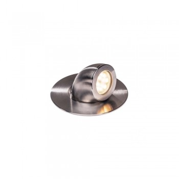 SLV 1000384 Stainless Steel Brushed Gimble Out 3000K 13W LED Outdoor Recessed Ground Light