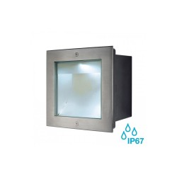 SLV 229381 Stainless Steel Square Dasar 255 4000K 34W LED Outdoor Recessed Ground Light
