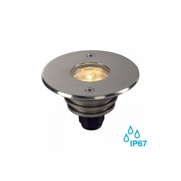 SLV 233500 Stainless Steel Brushed Dasar 920 7W LED Outdoor Recessed Ground Light